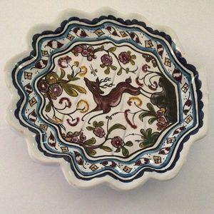 Conimbricer Portugal Ceramic Deer Tabletop Tray